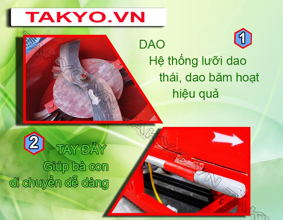 Dao và tay đẩy máy băm chuối Takyo TK 3000