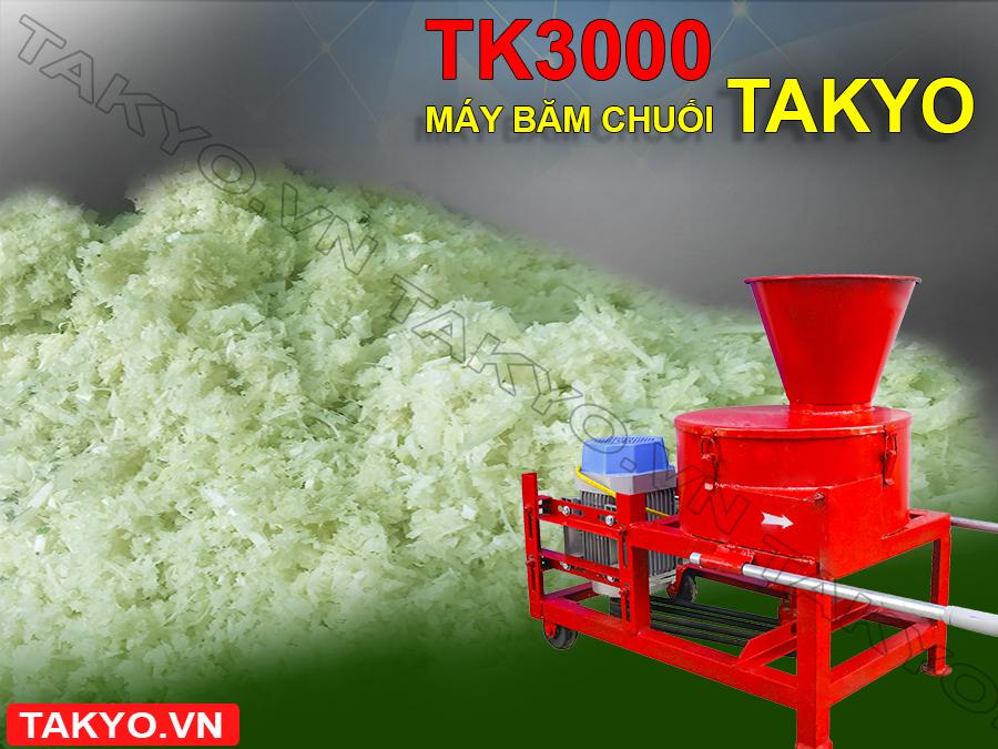 Chế phẩm sau khi sử dụng máy băm chuối Takyo TK 3000