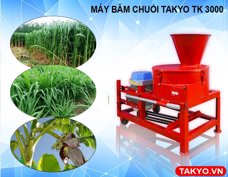 Ưu điểm máy băm thái chuối đa năng Takyo TK 3000