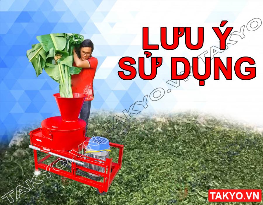 Lưu ý khi sử dụng máy băm thái chuối đa năng Takyo TK 3000