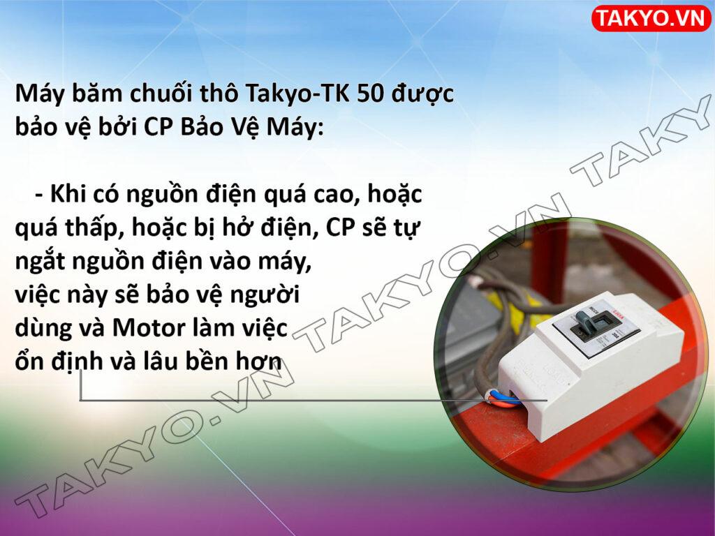 CP máy thái chuối thô Takyo TK 50