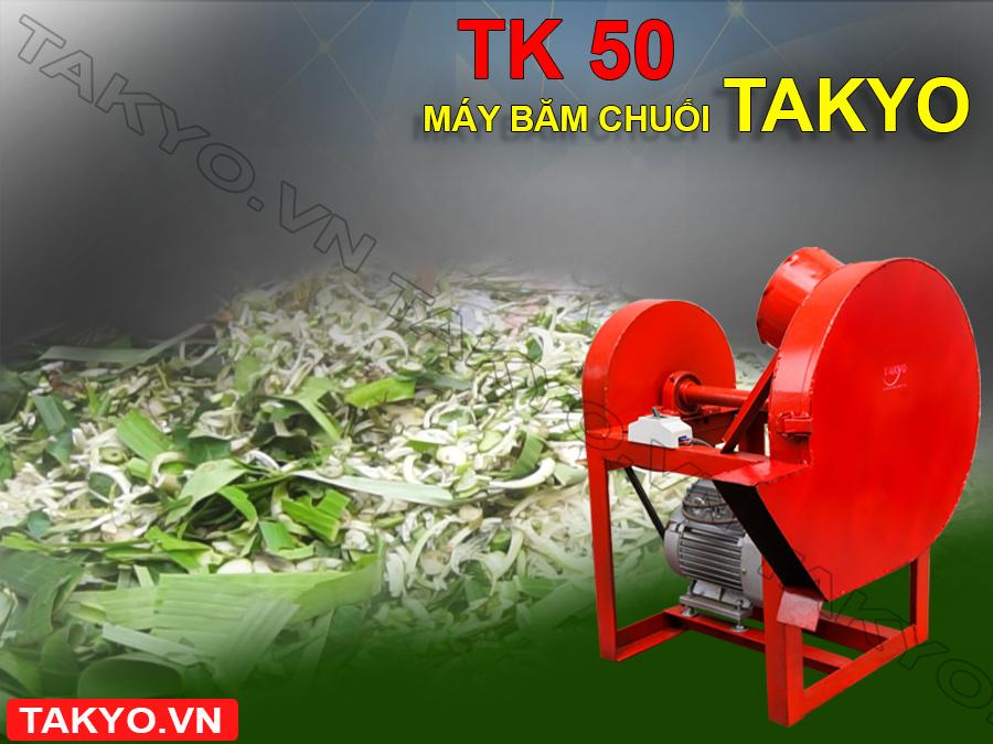 Chế phẩm sau khi sử dụng máy băm thái chuối đa năng Takyo TK 50