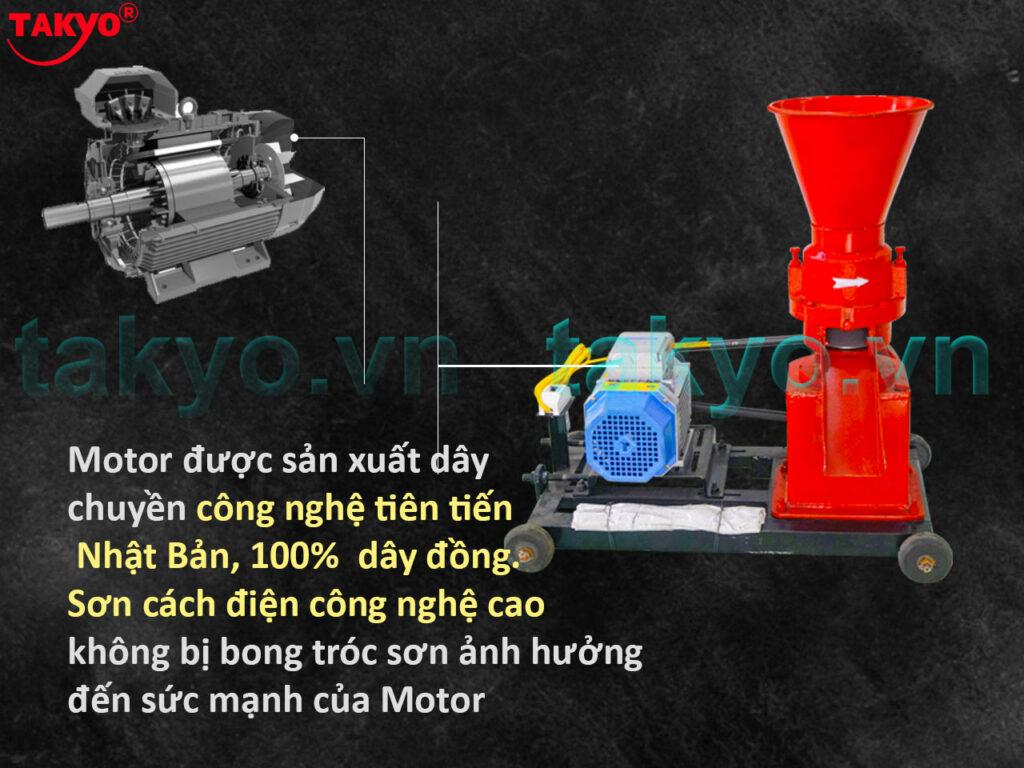 Motor máy ép cám viên hỗn hợp Takyo TK 150