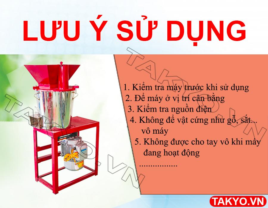 Lưu ý khi sử dụng máy băm nghiền đa năng inox Takyo TK 22