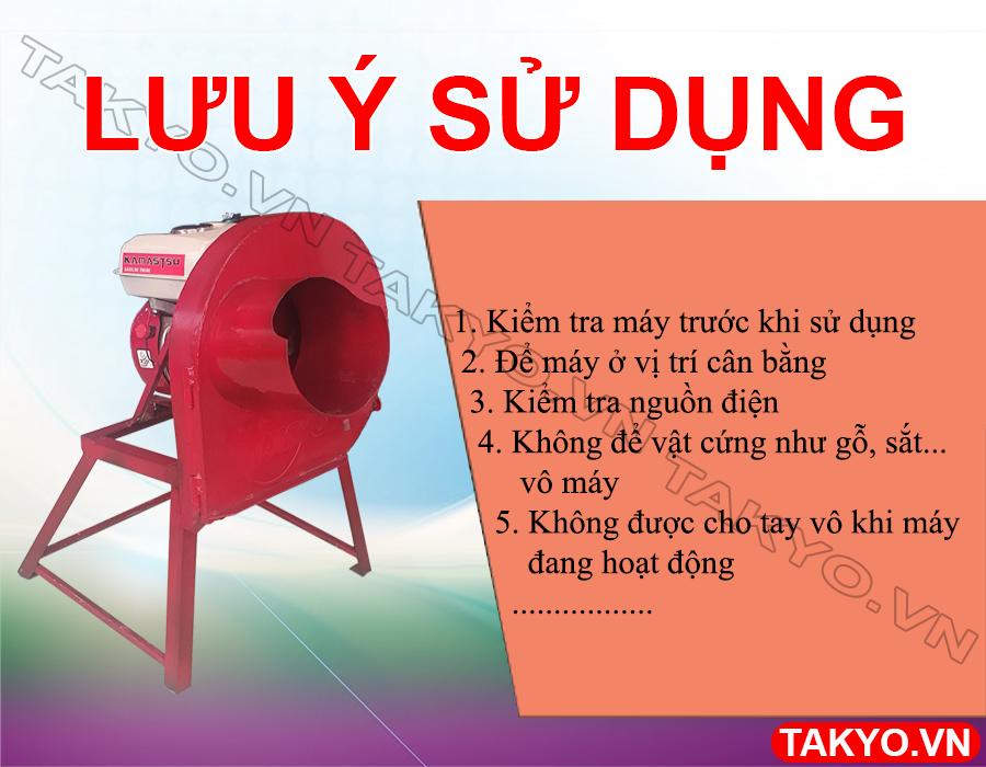 Lưu ý khi sử dụng máy băm chuối đa năng động cơ Takyo TK 55