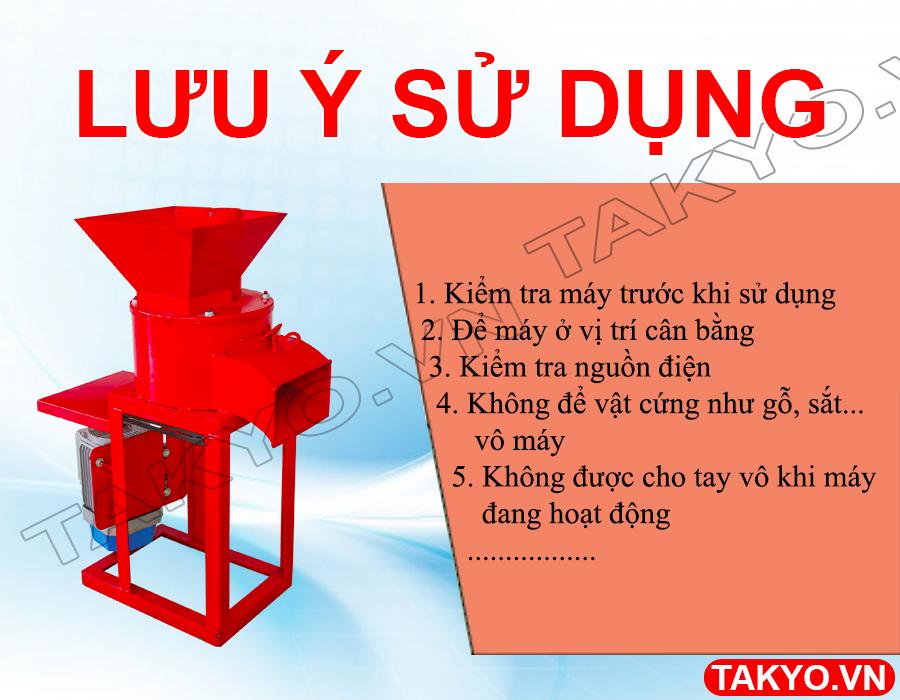 Lưu ý khi sửu dụng máy băm nghiền đa năng Takyo TK 30