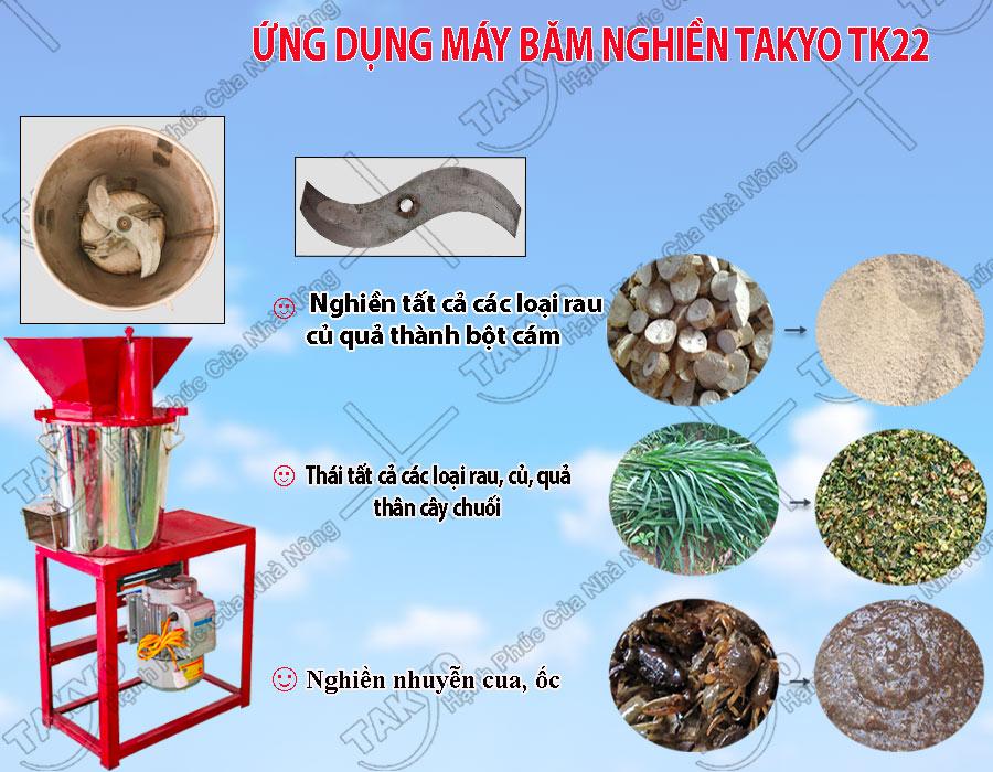 Công dụng máy băm nghiền đa năng inox Takyo TK 22
