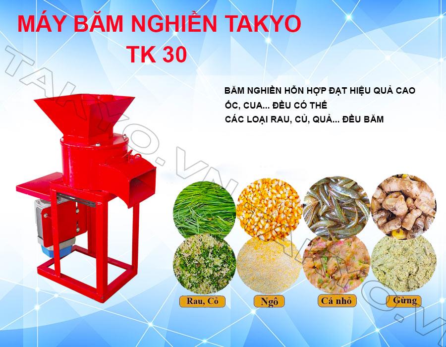 Ưu điểm máy băm nghiền đa năng Takyo TK 30