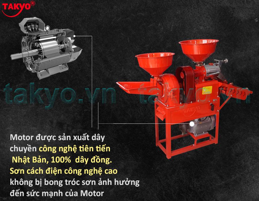 Cấu tạo về motor máy xát gạo Takyo TK 555