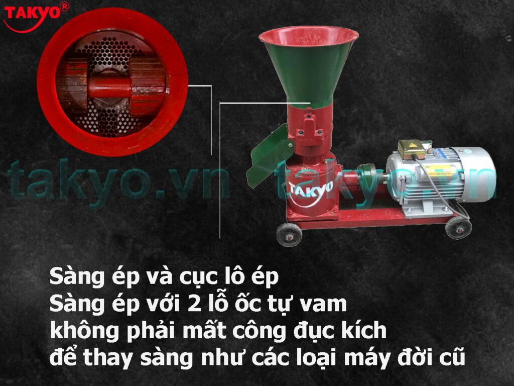 2-Cấu tạo máy ép cám viên hỗn hợp Takyo TK 180