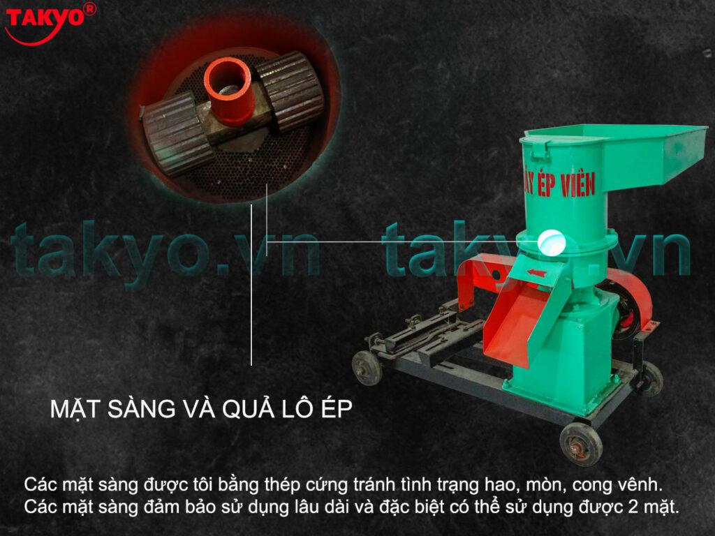 3-Cấu tạo máy ép cám viên hỗn hợp Takyo TK 250