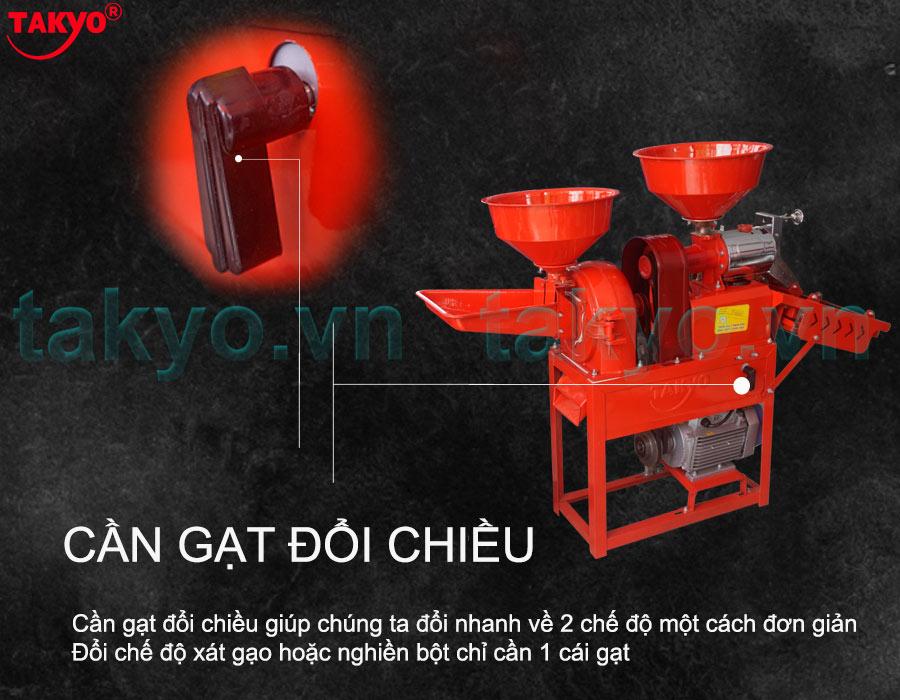 Cấu tạo về cần gạt đổi chiều máy xát gạo Takyo TK 555