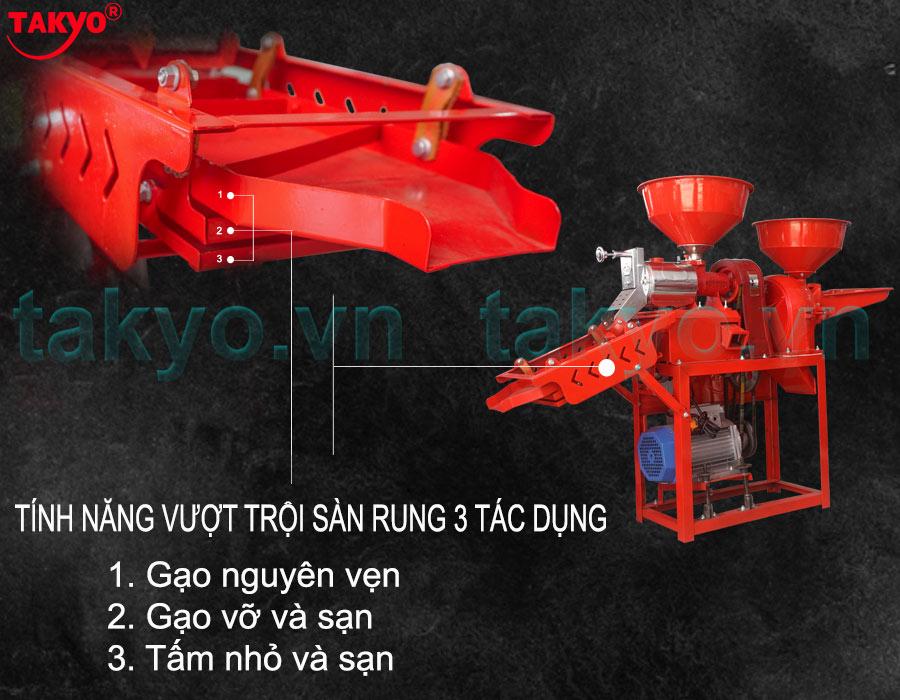 Cấu tạo về sàng rung máy xát gạo Takyo TK 555