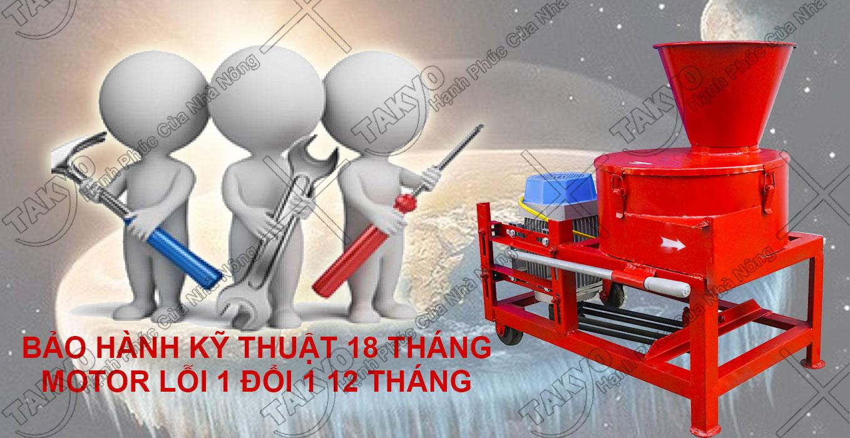 Chế độ bảo hành của máy băm chuối Takyo TK1500