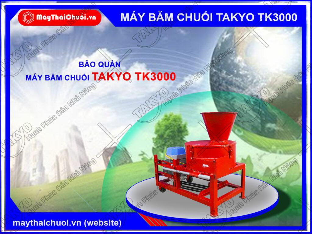 Những lưu ý khi sử dụng máy băm chuối Takyo TK3000