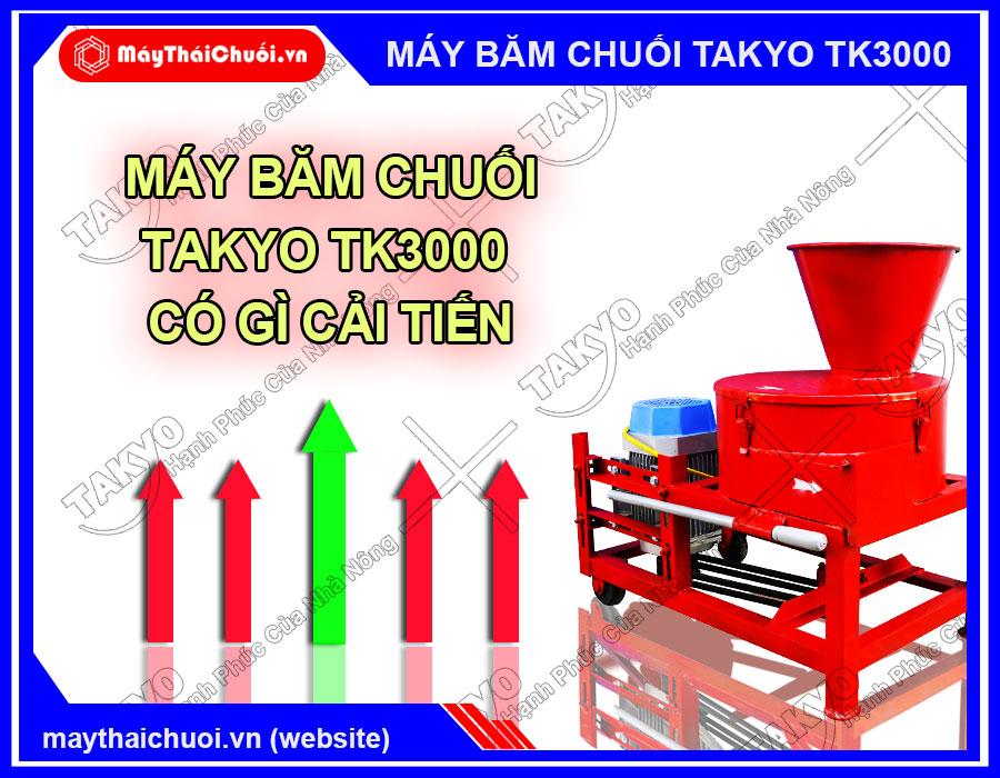 Những cải tiến của máy băm thái chuối Takyo TK3000