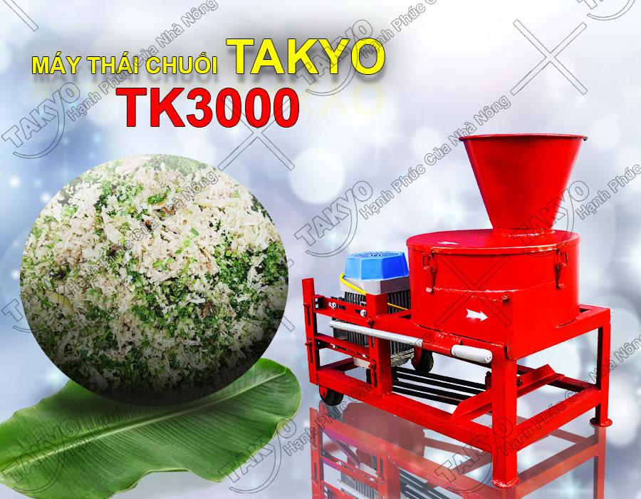 Chế phẩm sau khi sử dụng máy băm chuối Takyo TK3000