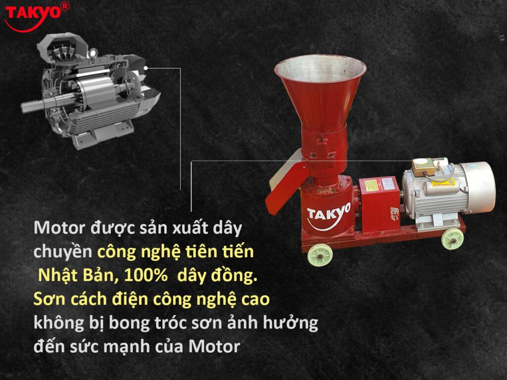 4-Cấu tạo máy ép cám viên hỗn hợp Takyo TK 180