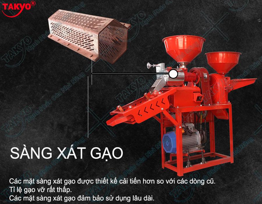 Cấu tạo về sàng xát gạo Takyo TK 555