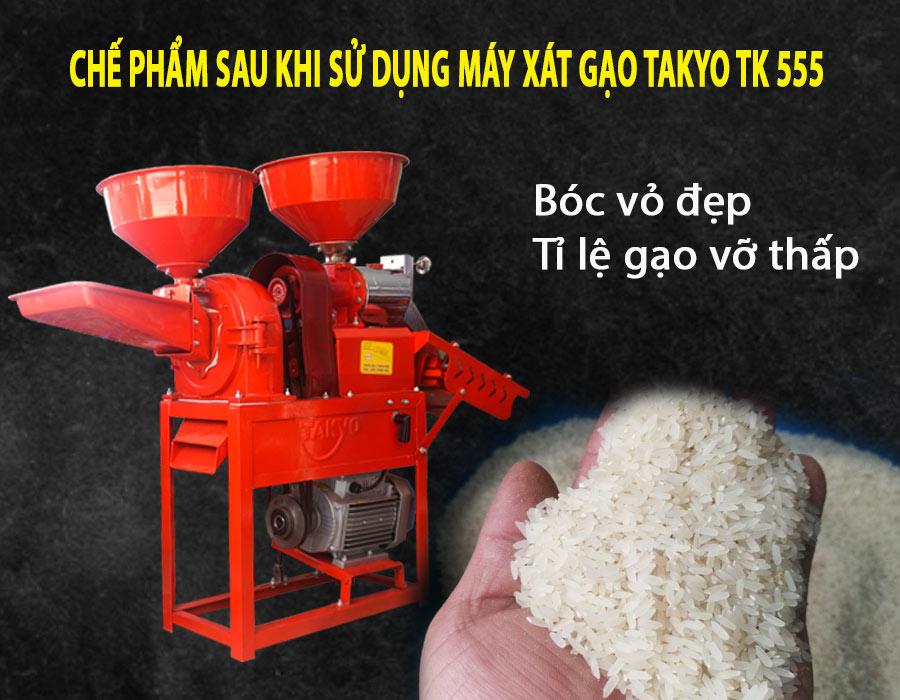 Chế phẩm sau khi sử dụng máy xát gạo Takyo TK 555