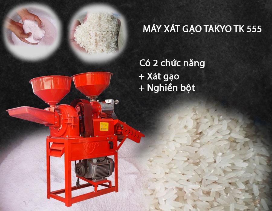 Công dụng máy xát gạo Takyo TK 555
