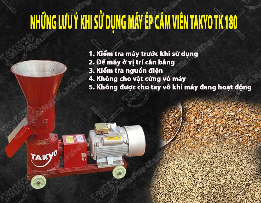 Lưu ý khi sử dụng máy ép cám viên hỗn hợp Takyo TK 180