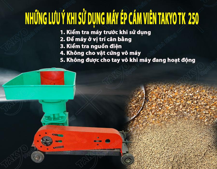 Lưu ý khi sử dụng máy ép cám viên hỗn hợp Takyo TK 250