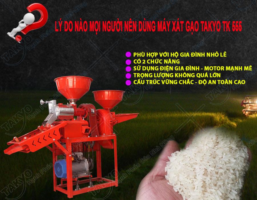 Lý do mọi người nên dùng máy xát gạo