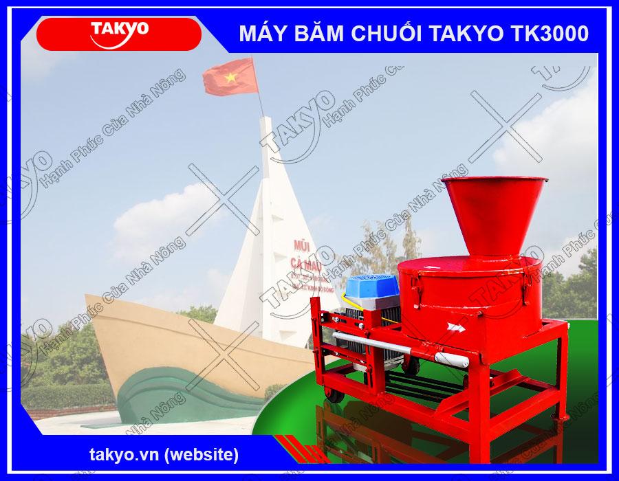 Máy băm thái chuối đa năng Takyo TK3000 cho lợn tại Cà Mau