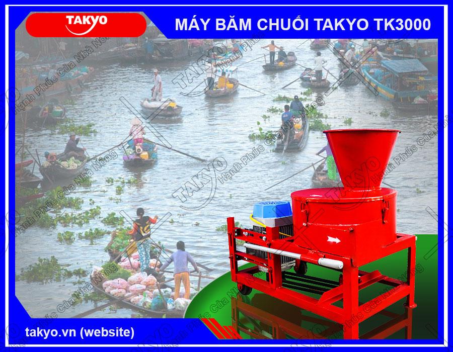 Bán máy băm cây chuối TAKYO TK3000 Giá rẻ Uy tín Tại Tiền Giang