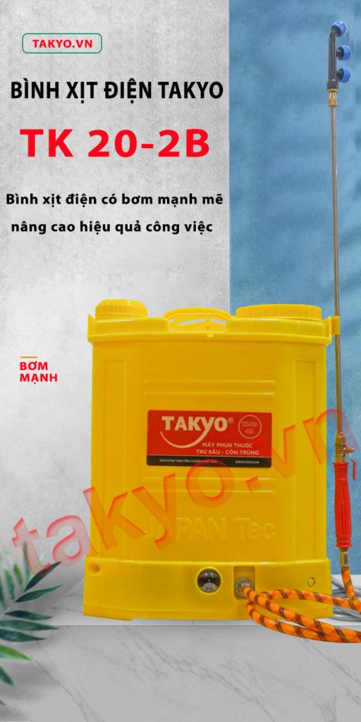 Bình xịt điện Takyo TK 20-2B đồng hành cùng mọi nhà