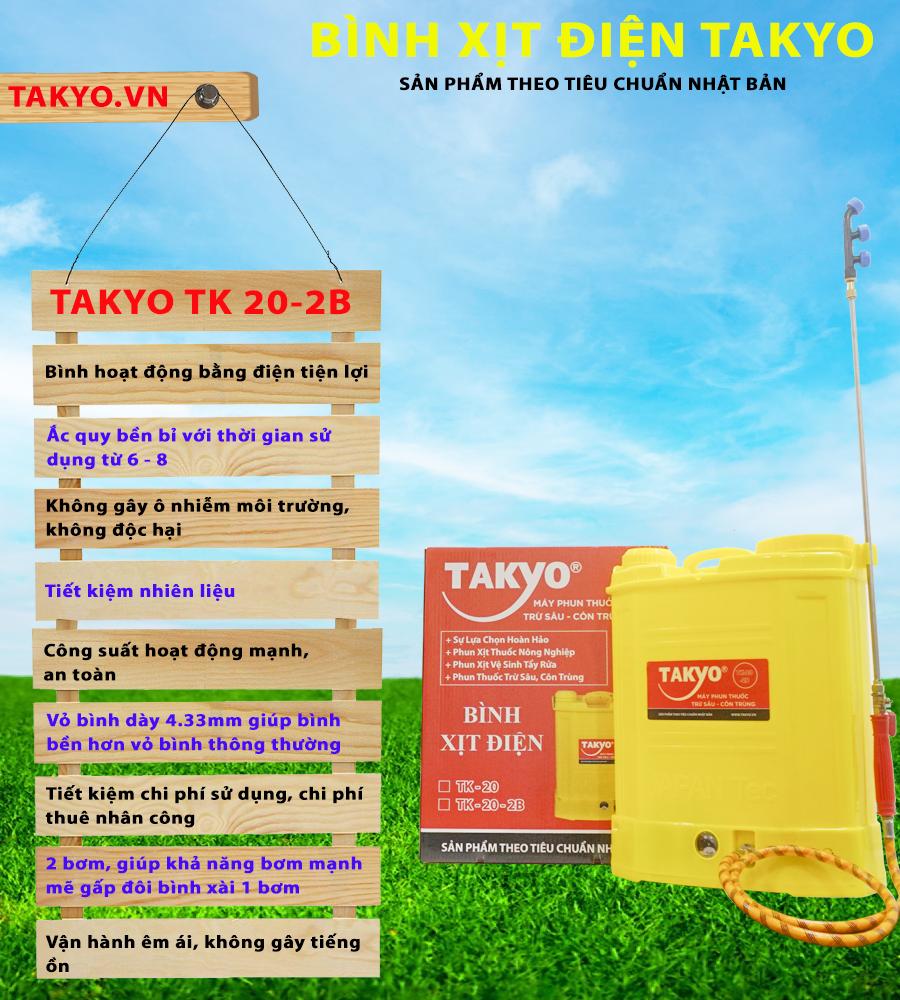 Ưu điểm bình xịt TAKYO TK 20-2B