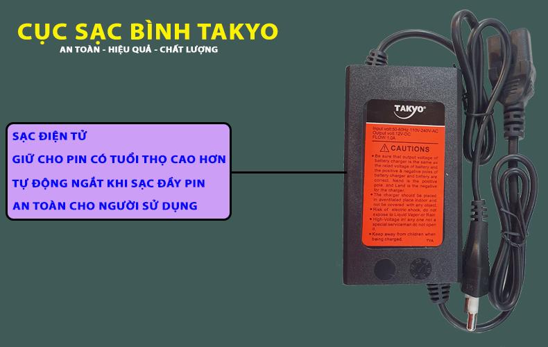 Cục sạc bình Takyo