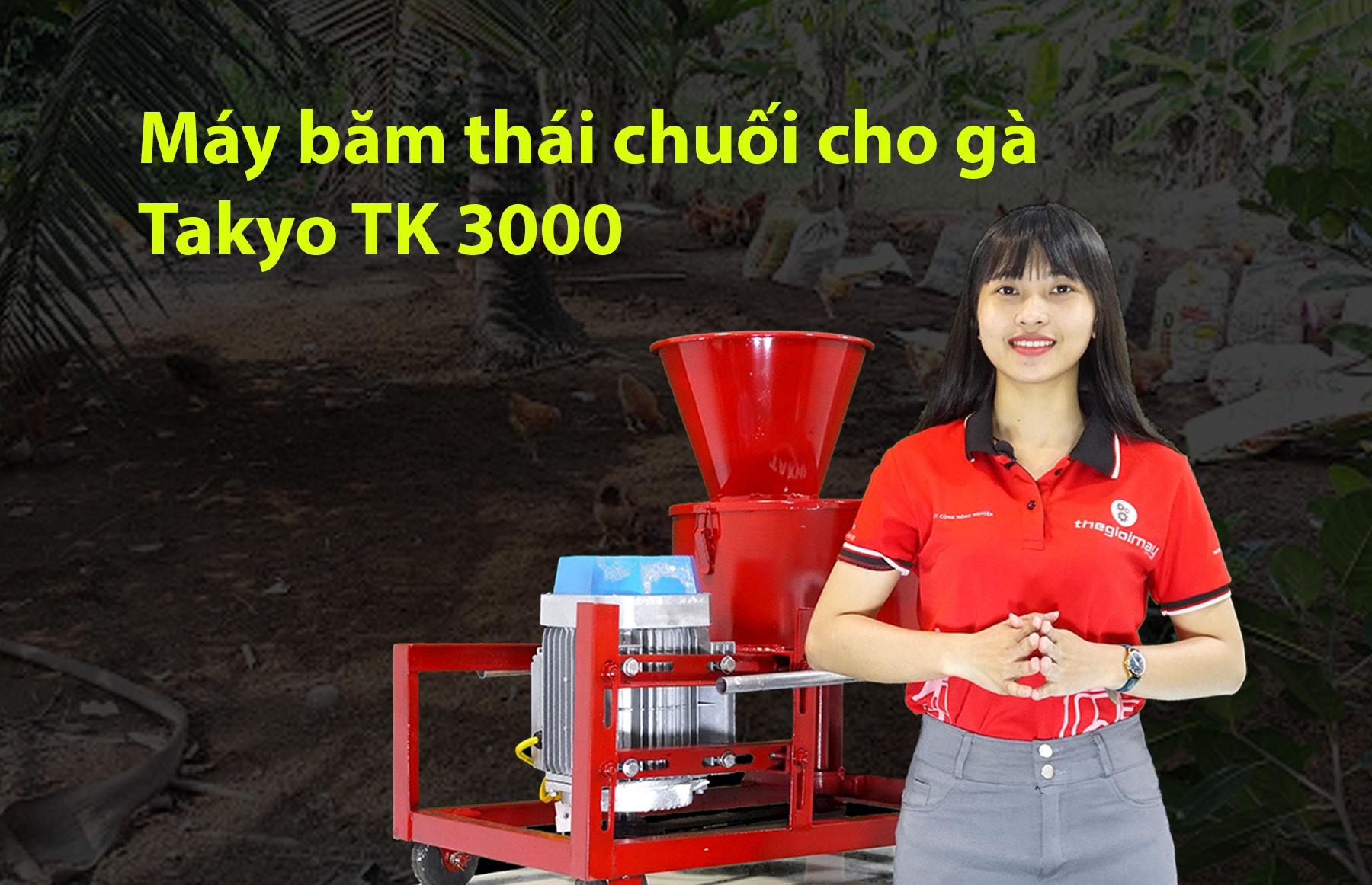 Giao máy băm chuối nhuyễn cho gà công suất mạnh cho khách l Máy băm chuối Takyo TK 3000