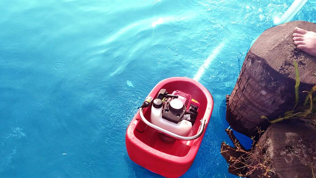 Máy bơm thuyền nổi trên mặt nước di chuyển dễ dàng