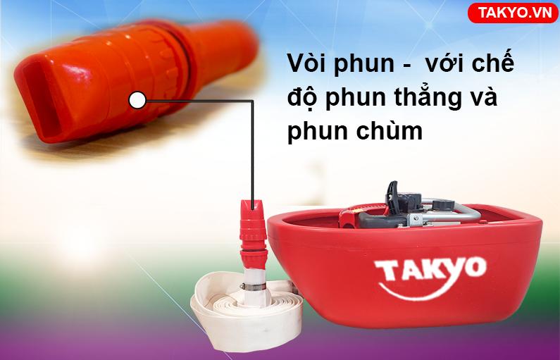 Vòi phun thẳng và chùm máy bơm thuyền Takyo