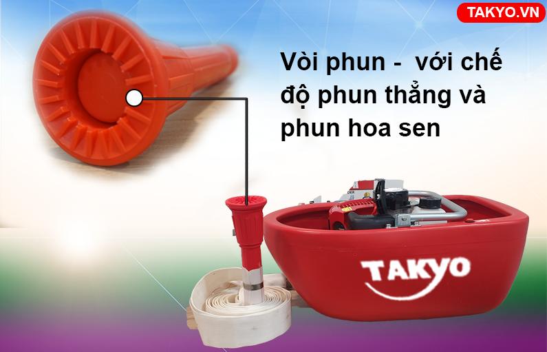 Vòi phun thẳng và hoa sen máy bơm thuyền Takyo