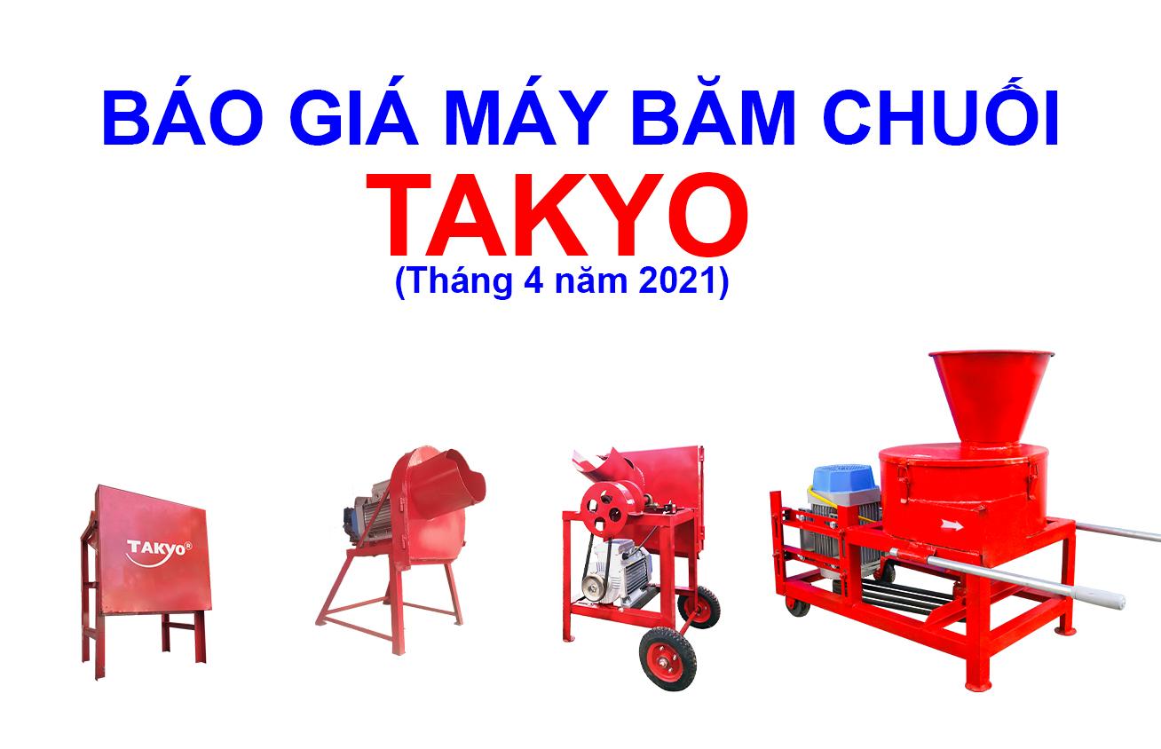 Bảng giá máy băm chuối, máy thái chuối TAKYO tháng 4 năm 2021