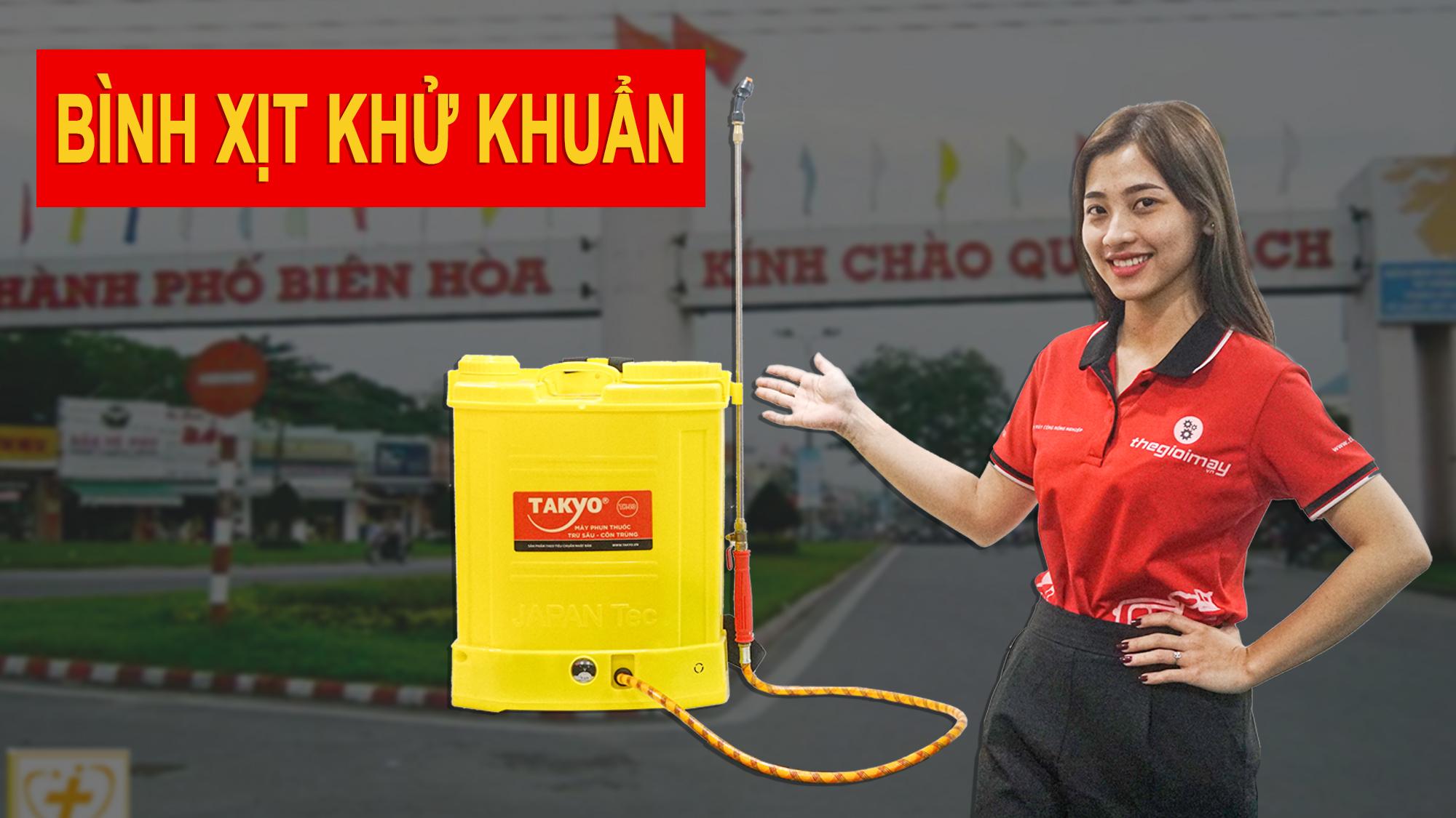 Bình xịt điện khử trùng tại Đồng Nai
