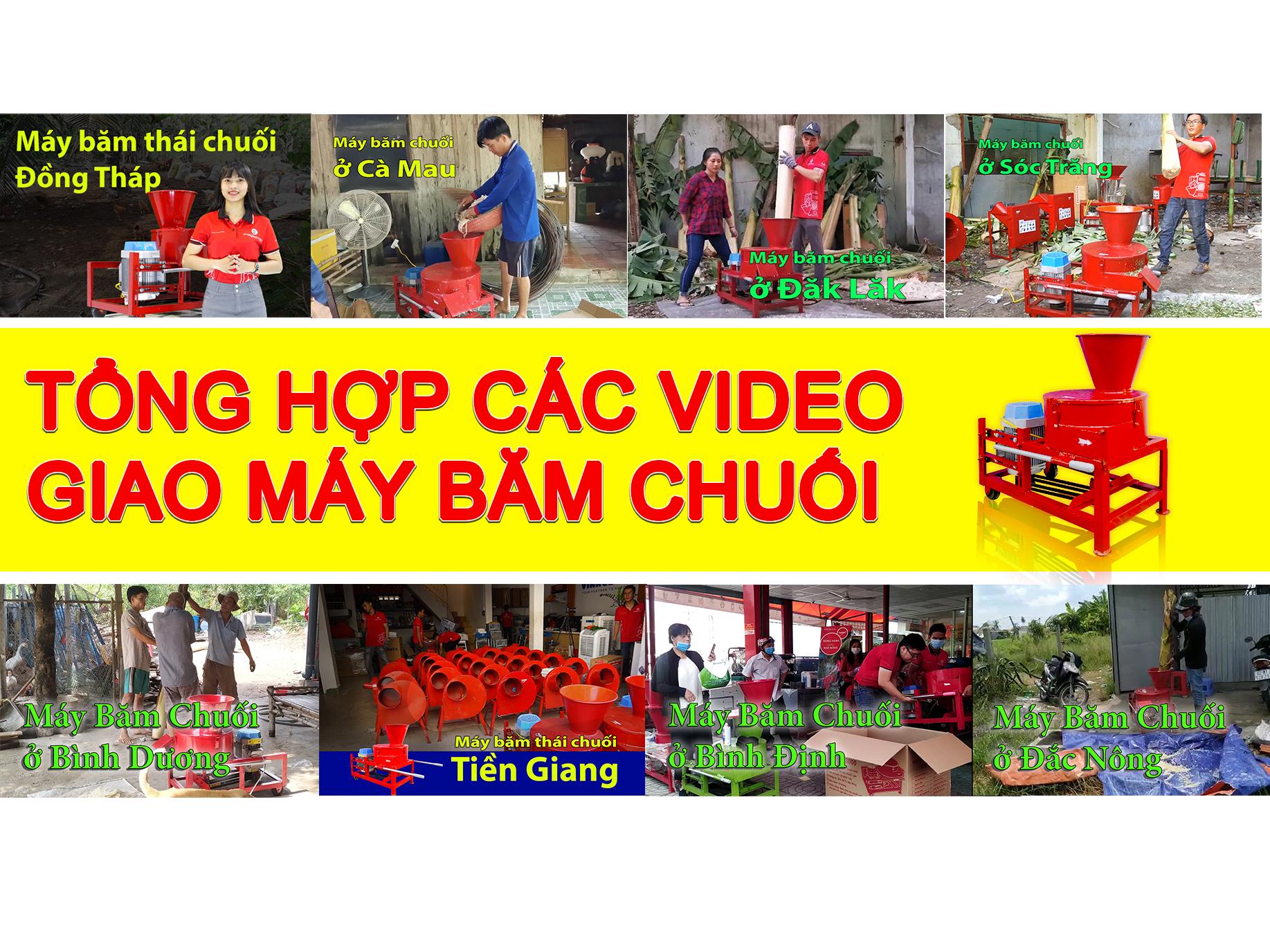 Tổng hợp các video giao máy băm chuối TAKYO TK 3000 cho khách hàng